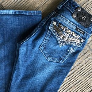 Miss Me Mid Rise Dark Wash Boot Cut Jeans Size 26